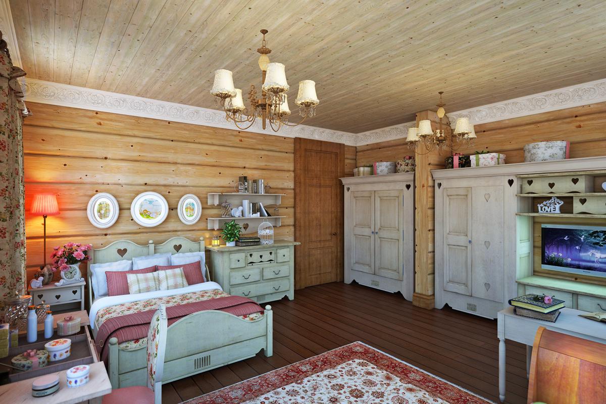 детская в деревянном доме идеи дизайна