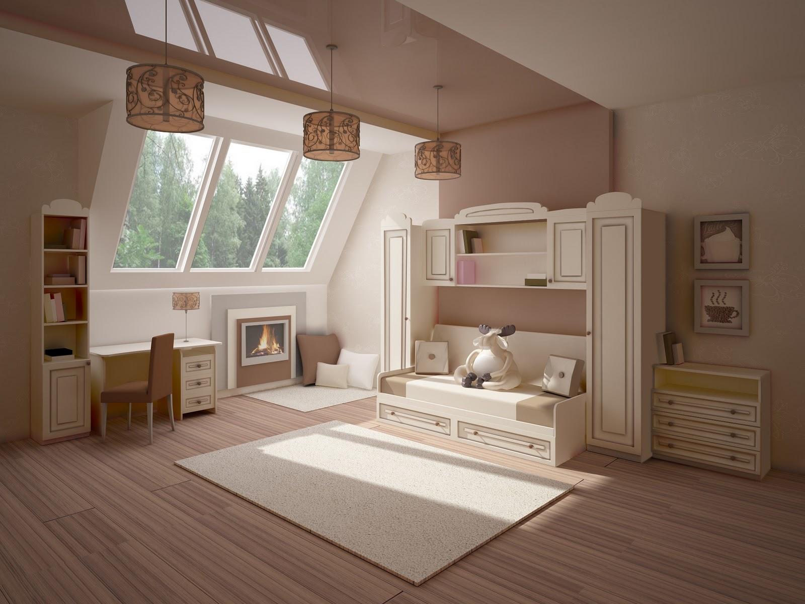 детская в деревянном доме интерьер
