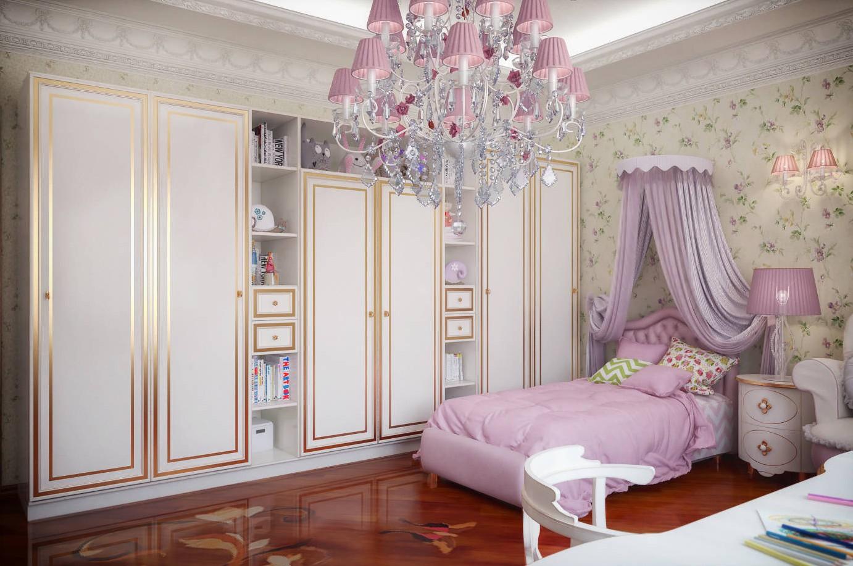 детская в классическом стиле основной цвет комнаты