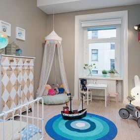детская в скандинавском стиле фото интерьер