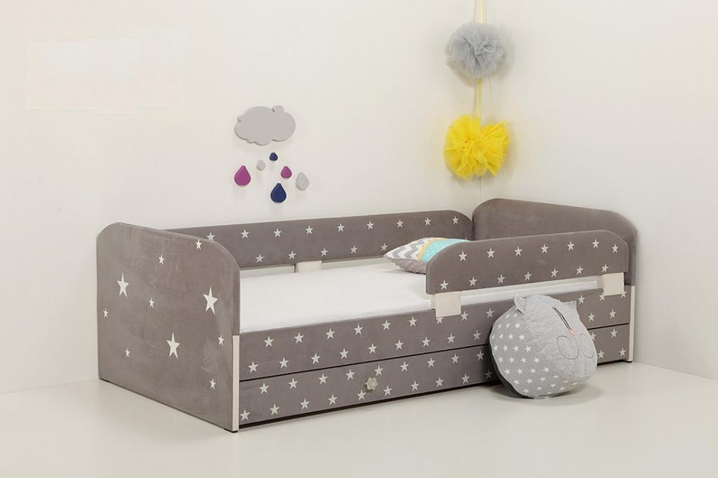 детская кровать с мягкими бортиками