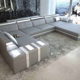 диван у окна в гостиной идеи оформление