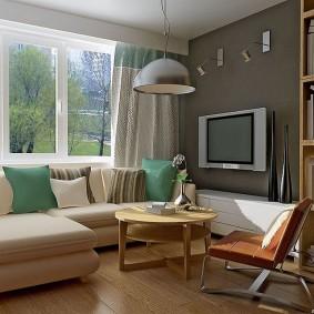 диван у окна в гостиной фото варианты