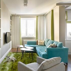 диван у окна в гостиной фото дизайн