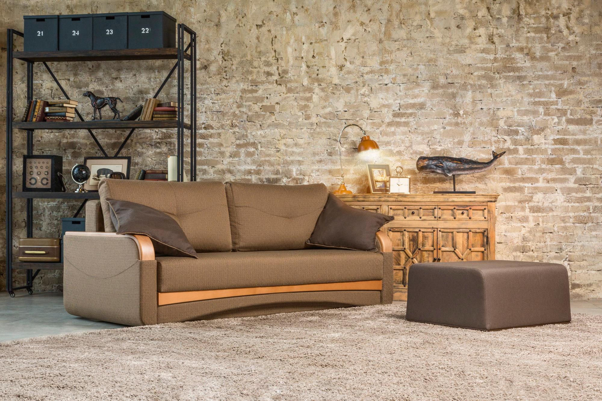 диван в гостиную коричневый