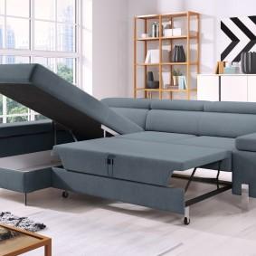 диван в гостиную раскладной идеи фото