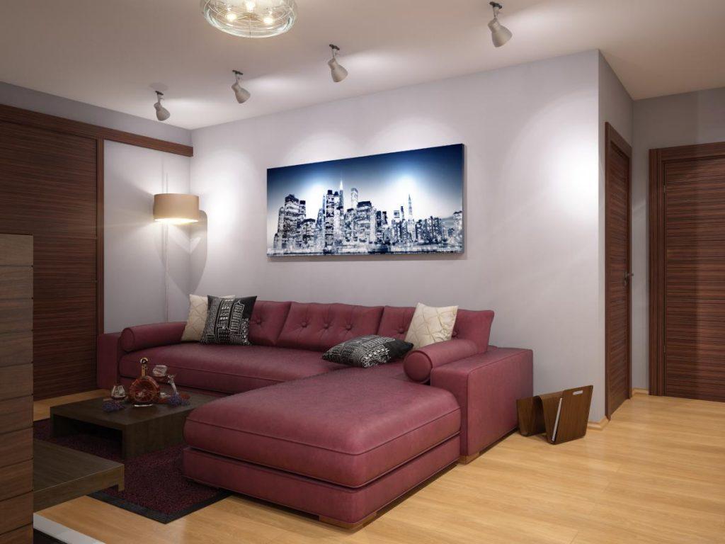диван в гостиную угловой фото