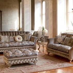 диван в классическом стиле декор фото