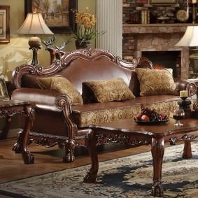 диван в классическом стиле фото декора