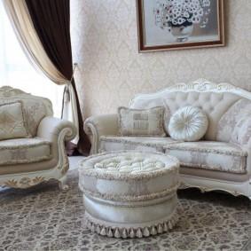 диван в классическом стиле идеи декор