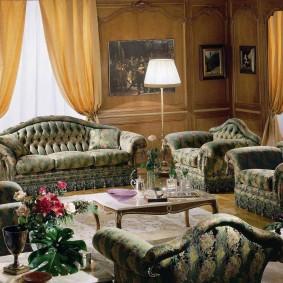 диван в классическом стиле идеи декора
