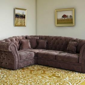 диван в классическом стиле интерьер фото