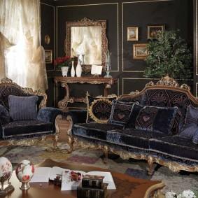 диван в классическом стиле фото интерьер