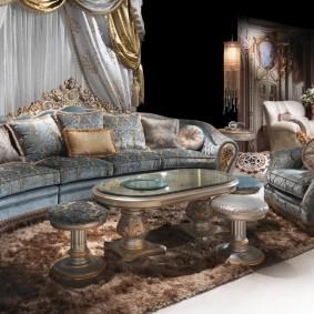 диван в классическом стиле фото интерьера
