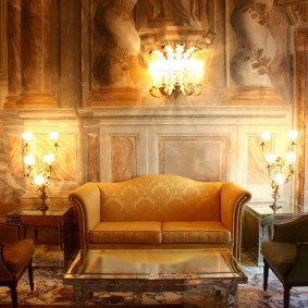 диван в классическом стиле интерьер идеи