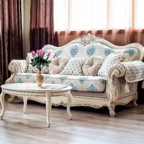 диван в классическом стиле идеи интерьер