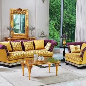 диван в классическом стиле фото оформление