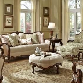 диван в классическом стиле идеи оформление