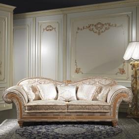 диван в классическом стиле виды