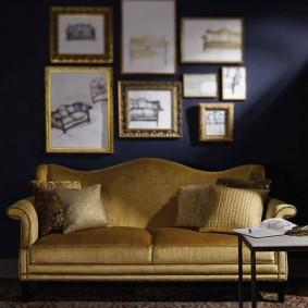 диван в классическом стиле виды декора