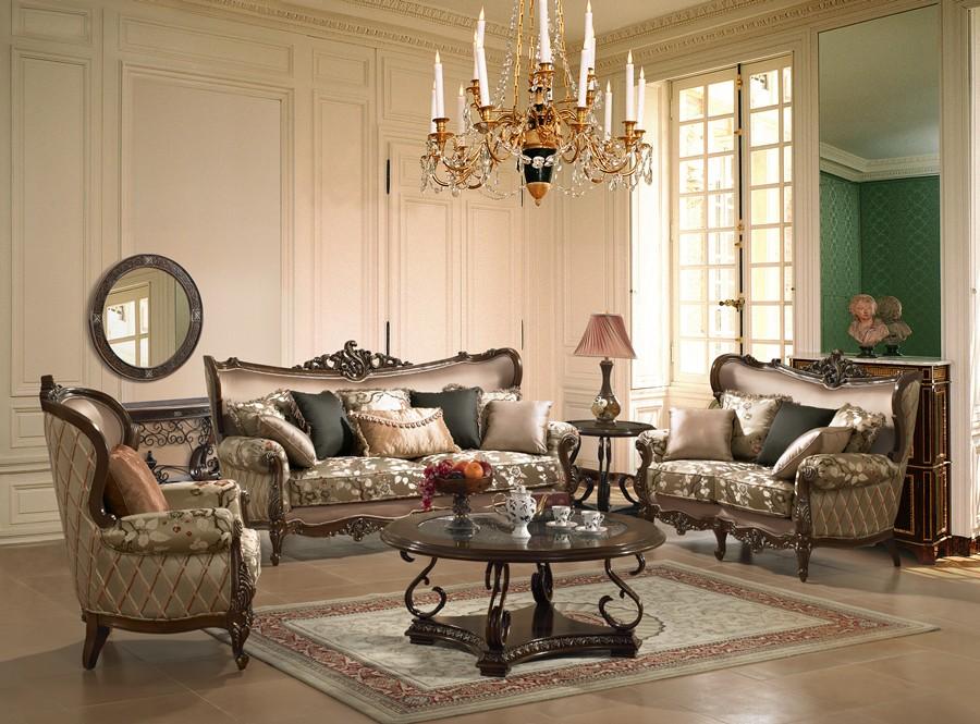 диван в классическом стиле в гостиной фото