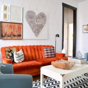 диван для гостиной виды оформления