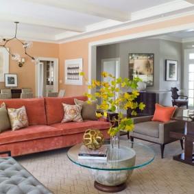 диван для гостиной оформление
