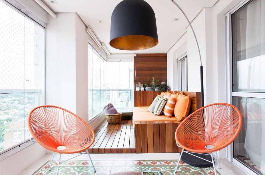 дизайн балкона отделка пола