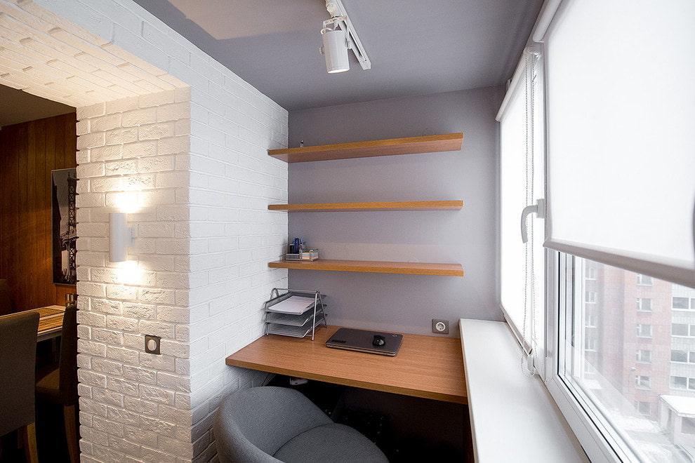 дизайн балкона отделка стен