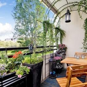 дизайн балкона сад фото