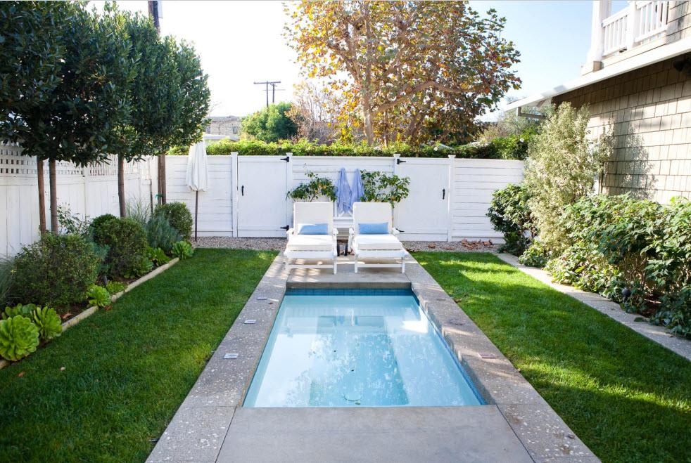 дизайн бассейна в саду