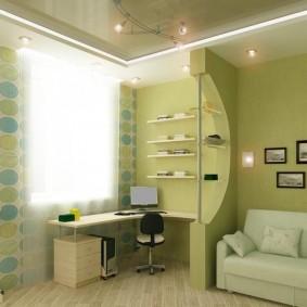 дизайн детской комнаты для школьника зонирование идеи