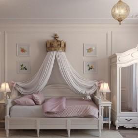 детская кровать декор идеи