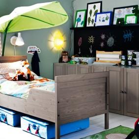 детская кровать оформление фото