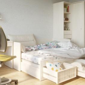 детская кровать декор