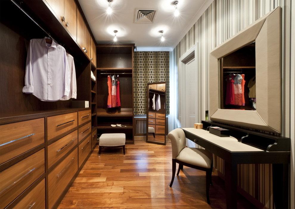 дизайн гардеробной фьюжн