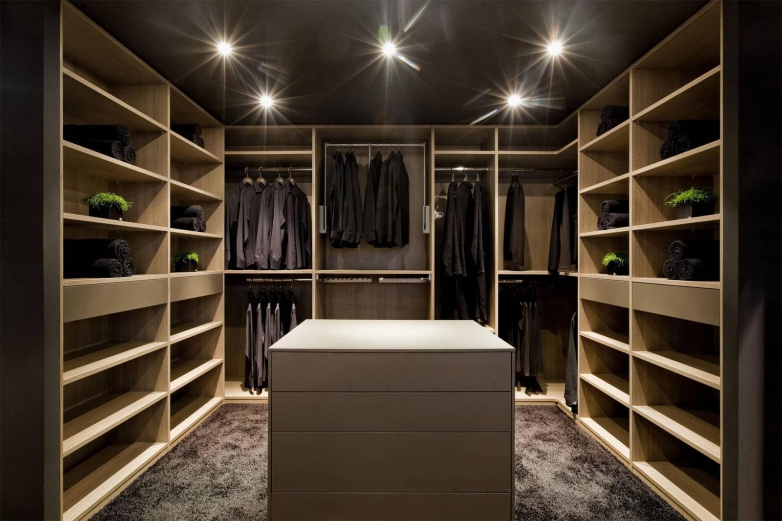 дизайн гардеробной комнаты хай тек