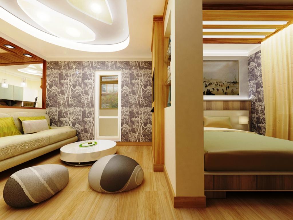 дизайн спальни гостиной