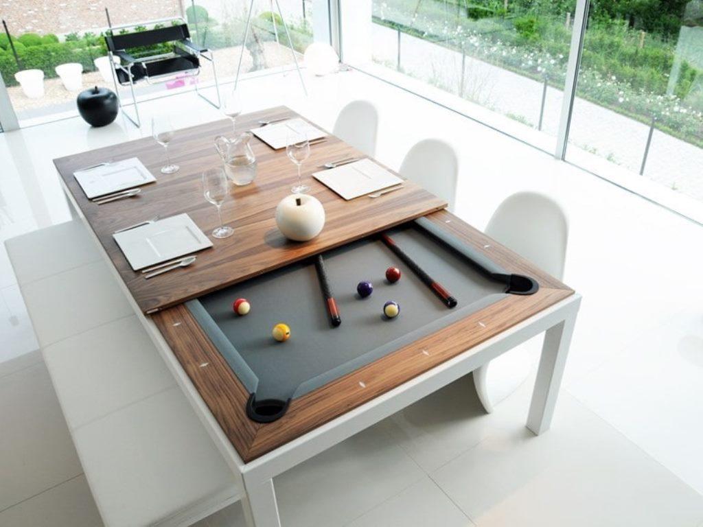 дизайнерский стол трансформер в гостиной