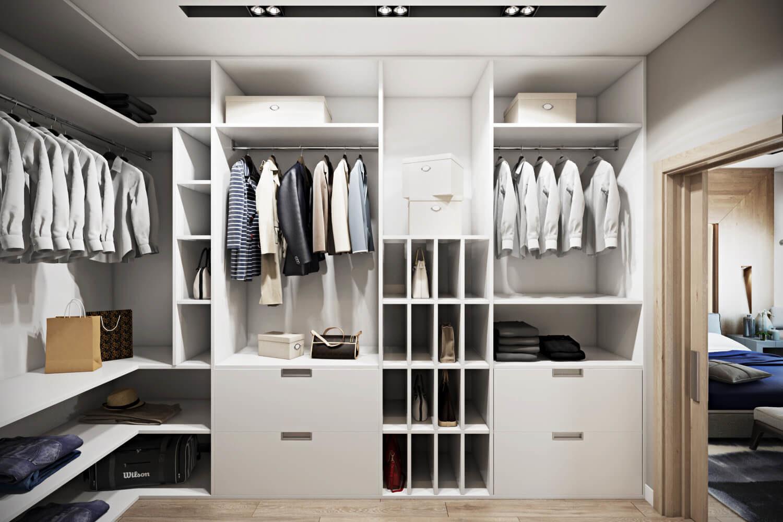 дизайн домашней гардеробной