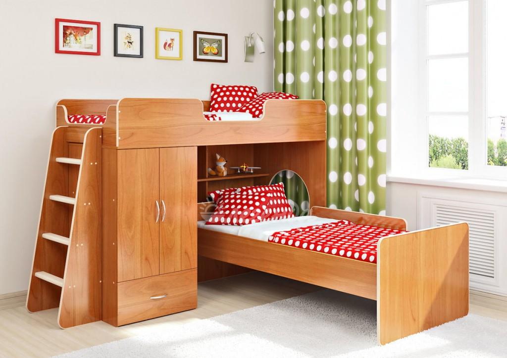 Кровать-чердак со спальным местом внизу