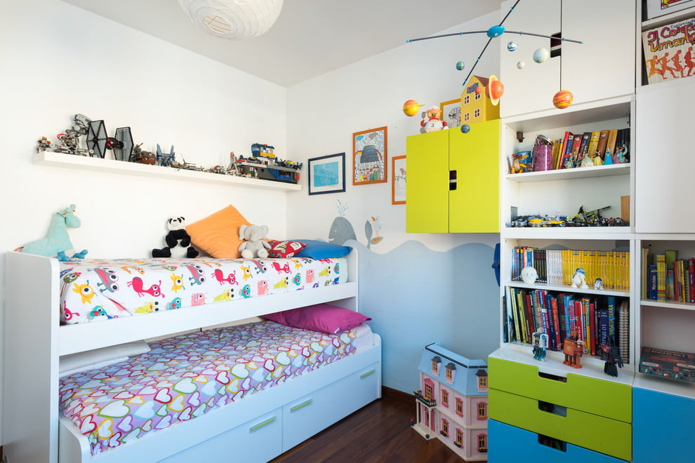 Меблировка детской спальни площадью 15 кв метров