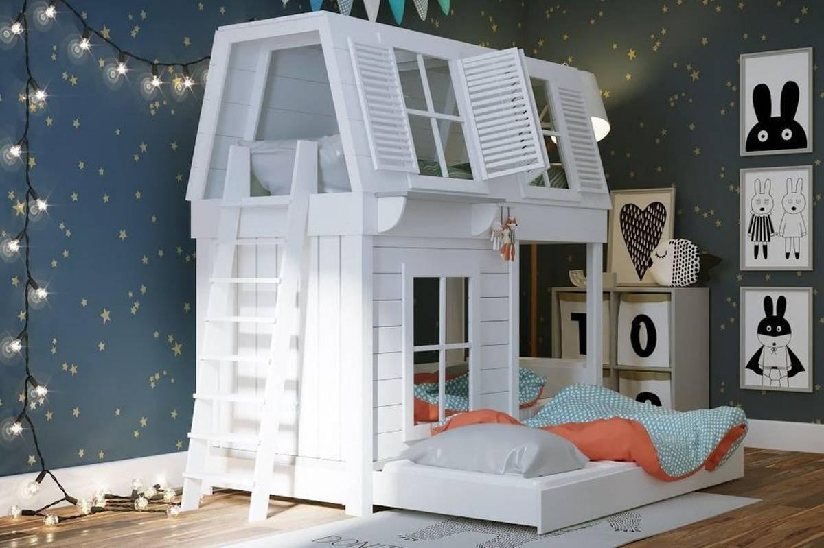 пластиковая кровать домик