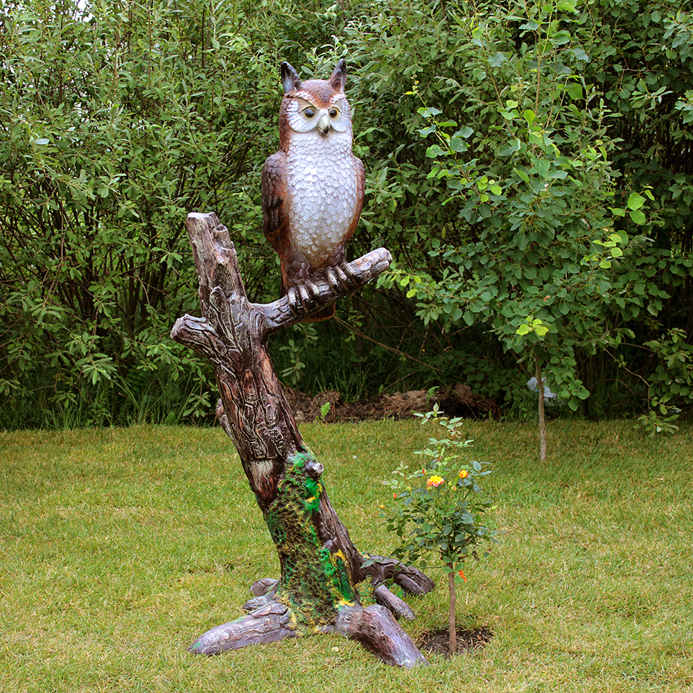 фигура для сада сова на ветке
