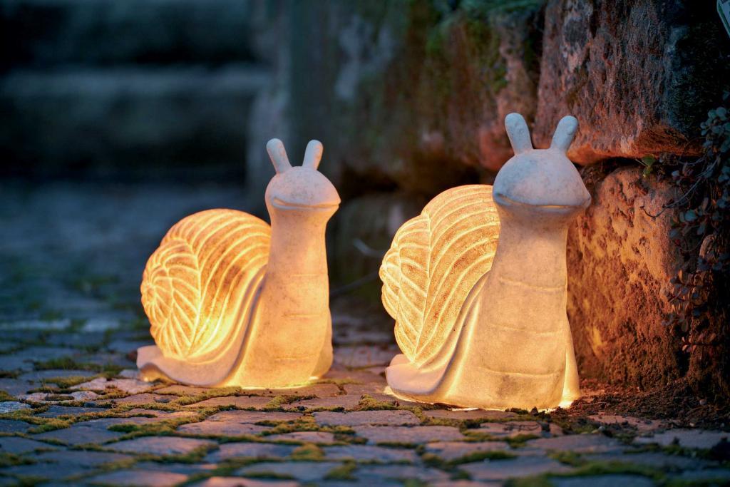 фигурки для сада с подсветкой