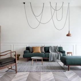Мягкая мебель в зоне отдыха гостиной