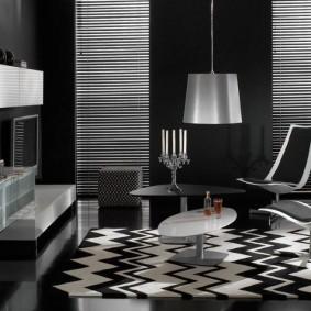 Дизайн комнаты в черно-белой палитре