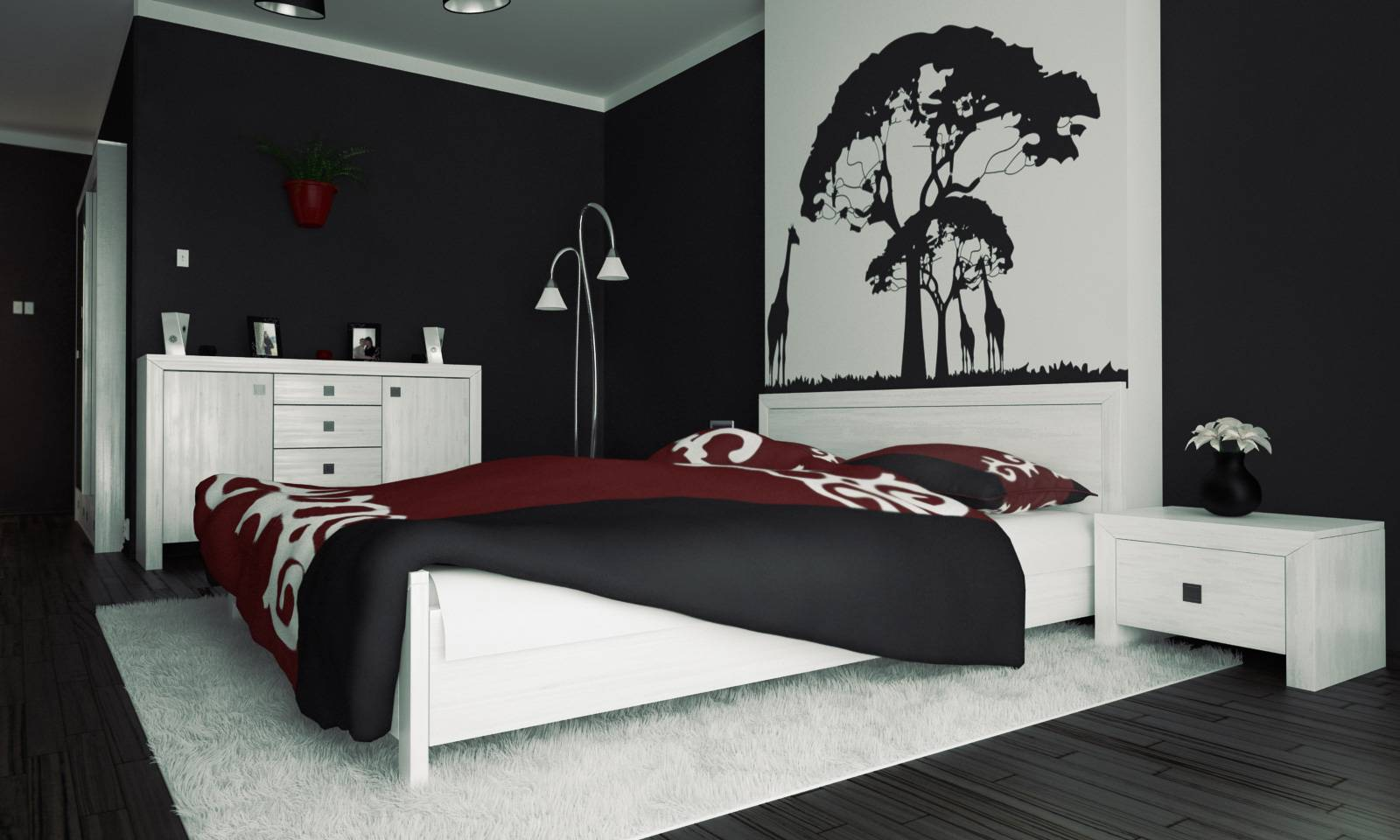 часто находят спальня в черно белом стиле картинки камеры