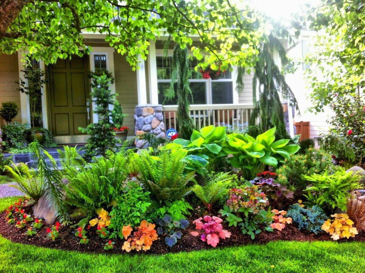 может, дизайн цветника в частном доме фото можете также