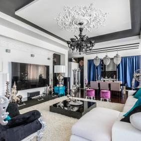 Декор гостиной в стиле арт-деко